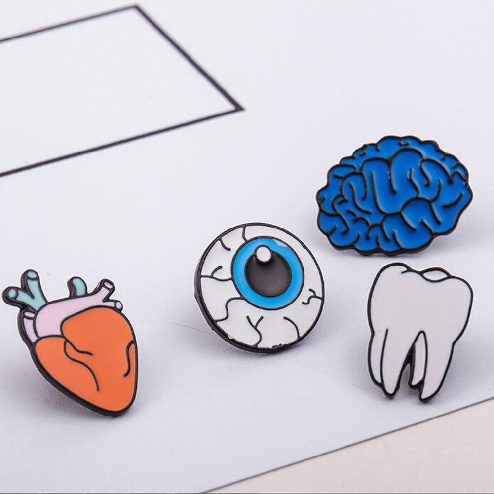 2017 творческая воротник корсаж мультфильм зуб глаз органов брошь Булавки ювелирные изделия
