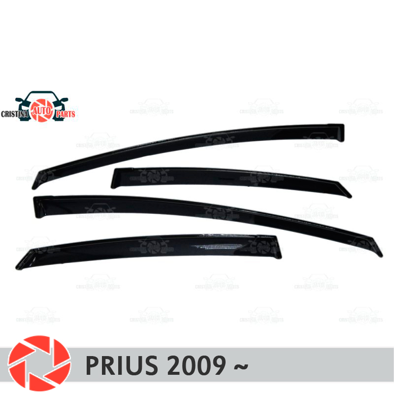 цена на Window deflector for Toyota Prius 2009~ rain deflector dirt protection car styling decoration accessories molding