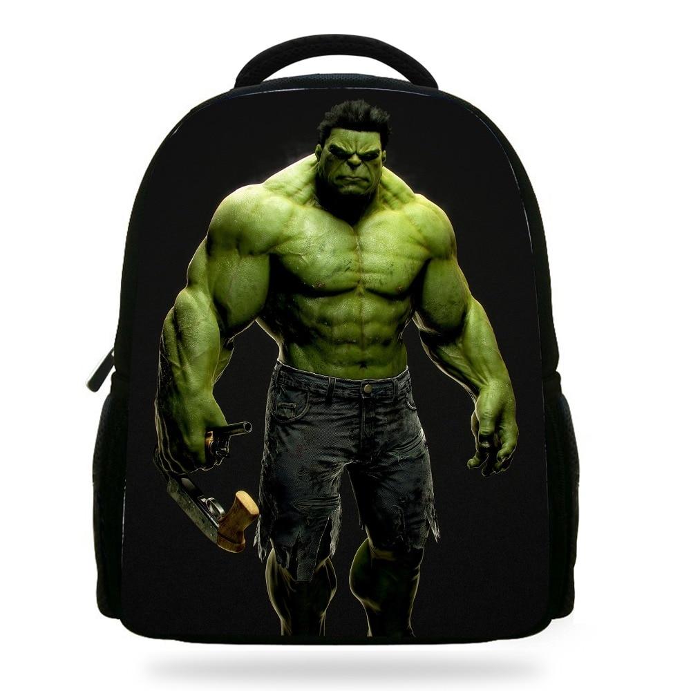edb3b83a7bc 14 Inch Populaire Karakter Boek Tassen Voor Kinderen De Avengers Hulk Rugzak  Voor Kids School Jongens Meisjes in 14 Inch Populaire Karakter Boek Tassen  Voor ...
