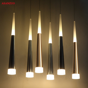 Modern led Conical pendant lights Many heads Aluminum acrylic dining room  living room bar cafe hanging lamp modern pendant lights spherical design white aluminum pendant lamp restaurant bar coffee living room led hanging lamp fixture