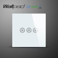 Wallpad EU UK Standard Glass Panel New 220V Adjustable Controller Touch Fan Wall Switch Fan Speed