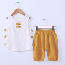 Kid New Fashion Casual Summer Cute Baby Child Round Neck Tops +Pants
