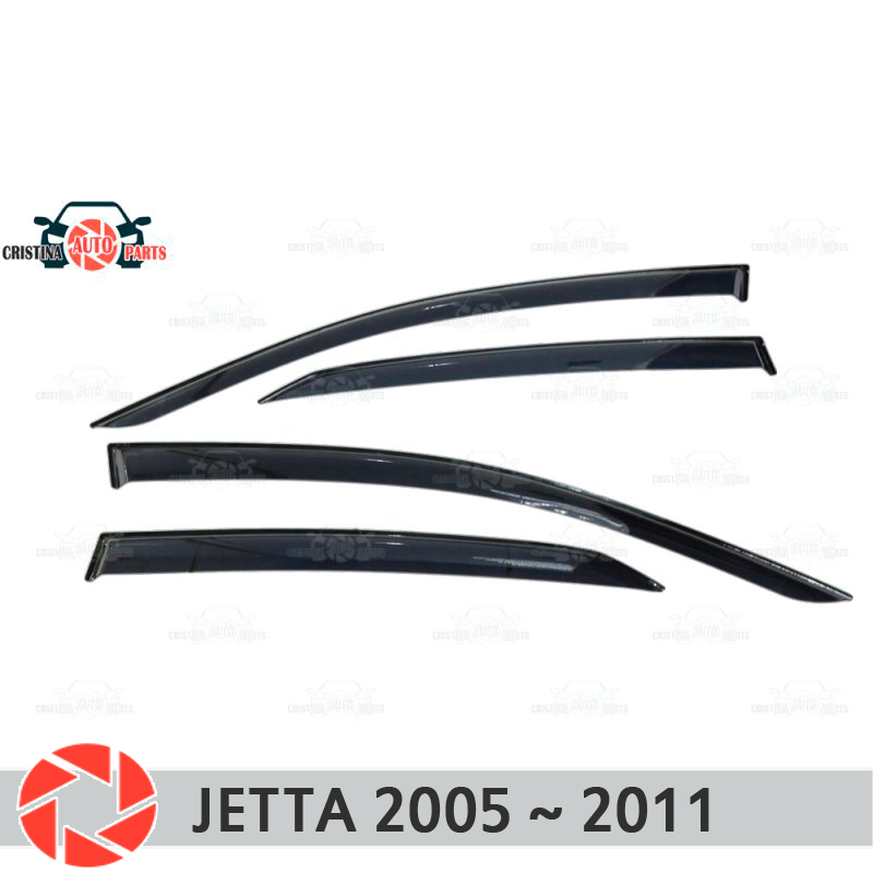 Window deflector for Volkswagen Jetta 2005-2011 rain deflector dirt protection car styling decoration accessories molding high quality car styling case for hyundai sonata 2011 12 headlights led headlight drl lens double beam hid xenon car accessories