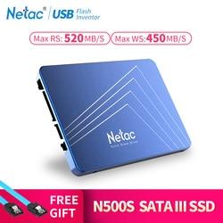 Netac N500S SSD Hard Drive 240GB SATA3 520MB/S Internal Solid State Drive SSD 240 GB 120GB 480GB 60GB Blue Laptop PC Hard Disk
