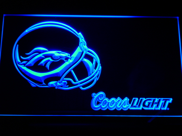 b459 Denver Broncos Helmet Coors LED Neon Sign with On/Off Switch 7 Colors 4 Sizes to choose