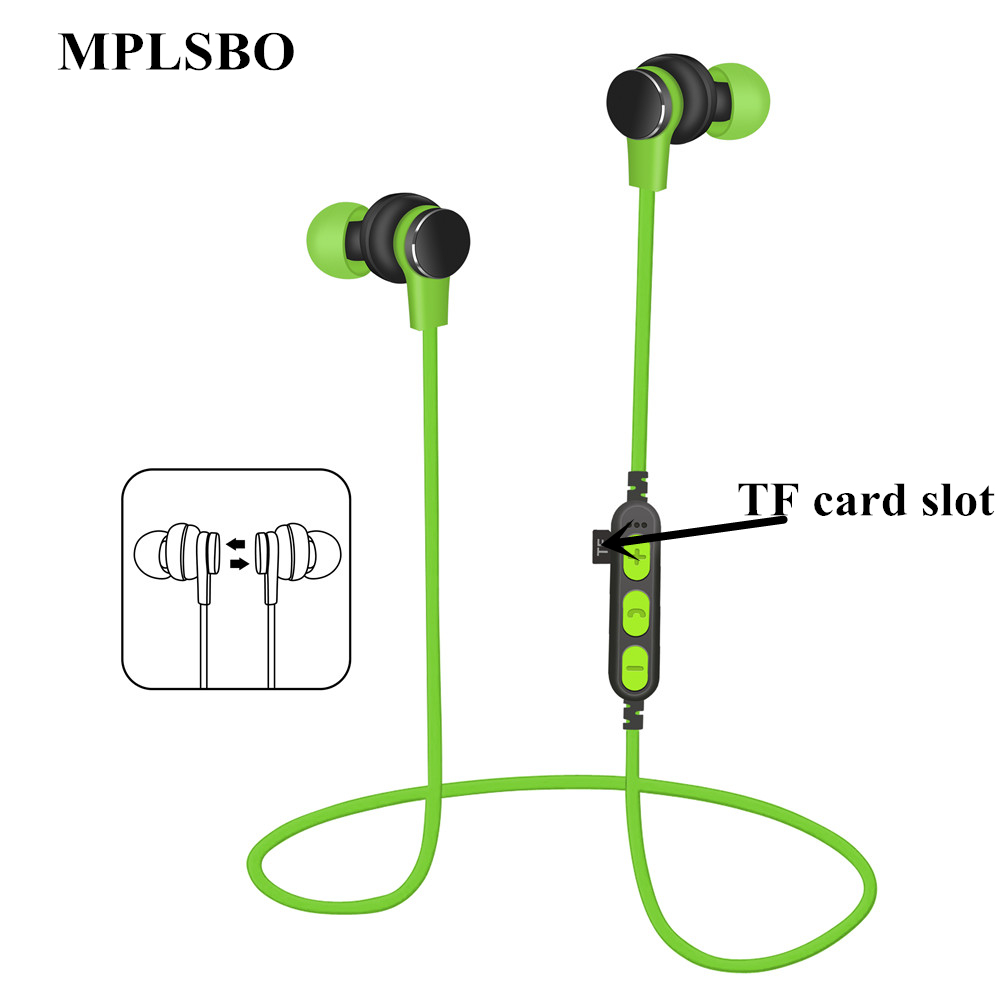 MPLSBO T1 Bluetooth earphone Wireless headphones for sport Earbuds with microphone headset stereo headphone 2018 wireless headset foldable bluetooth headphone stereo wireless earphone microphone bluetooth earphone bluetooth headphones