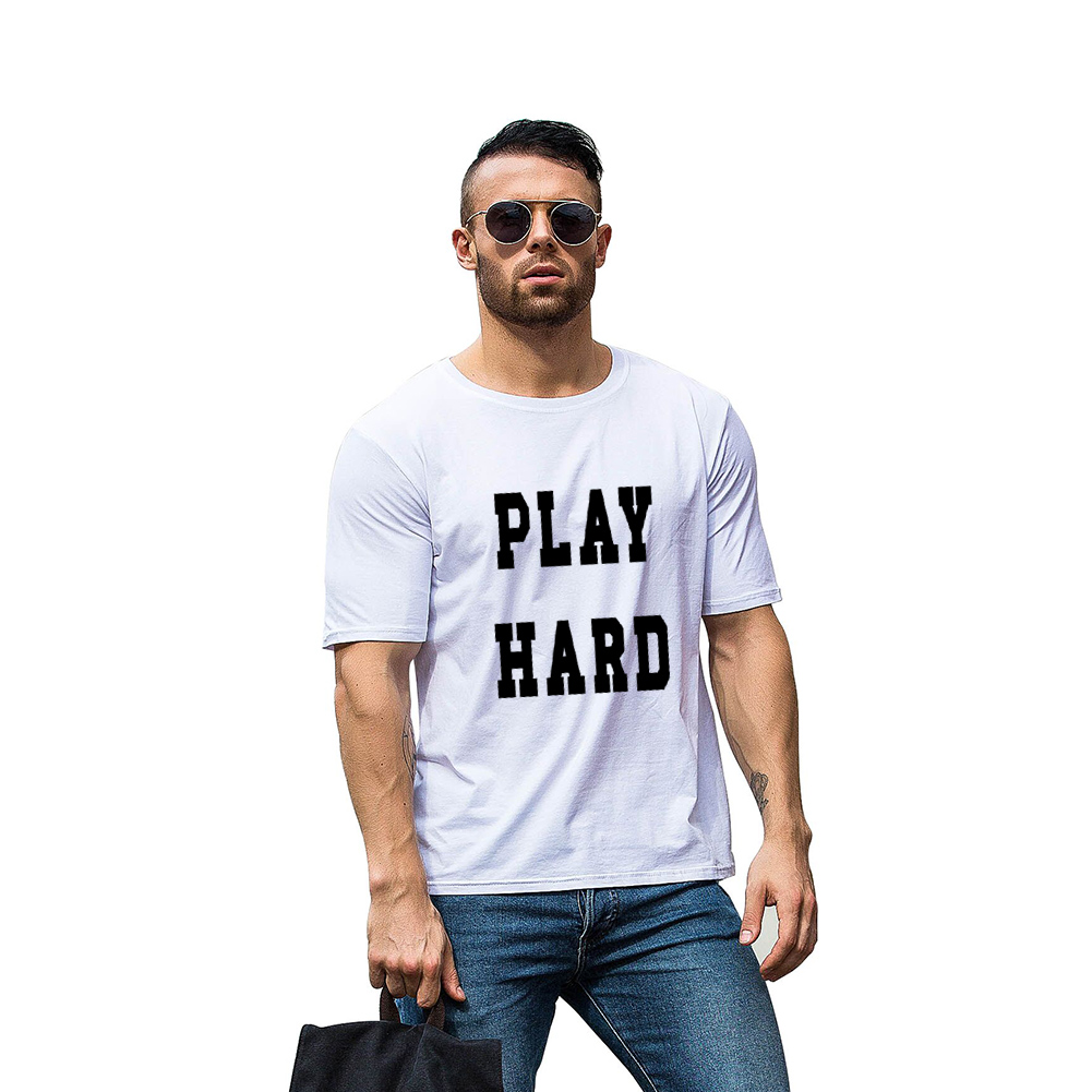 Мужские популярные унисекс в сдержанном стиле фразу принт футболка Повседневная короткий рукав любителей футболка