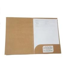 A4 крафт Бумага папка-гармошка зажим бумага для органайзера держатель папка для документов офисные и школьные принадлежности
