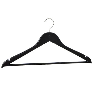 Фото - 10 pcs in a set black wooden hanger for clothes wardrobe racks tb566 plastic chest hanger hook black