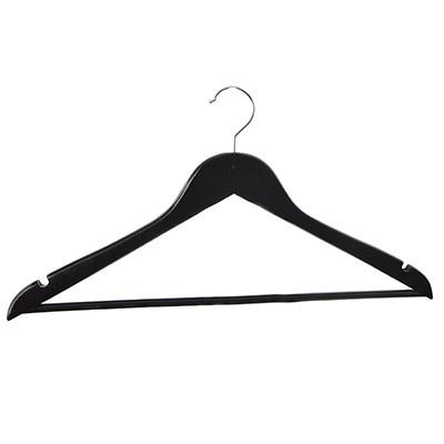 10 Pcs In A Set Black Wooden Hanger For Clothes Wardrobe Racks