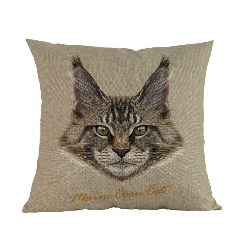 Cat Breeds Decorative Cushion Covers