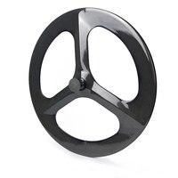 3 Spokes Carbon Road Wheelset , Tri Spokes Fix Gear Wheels, Disc Brake Carbon Rims