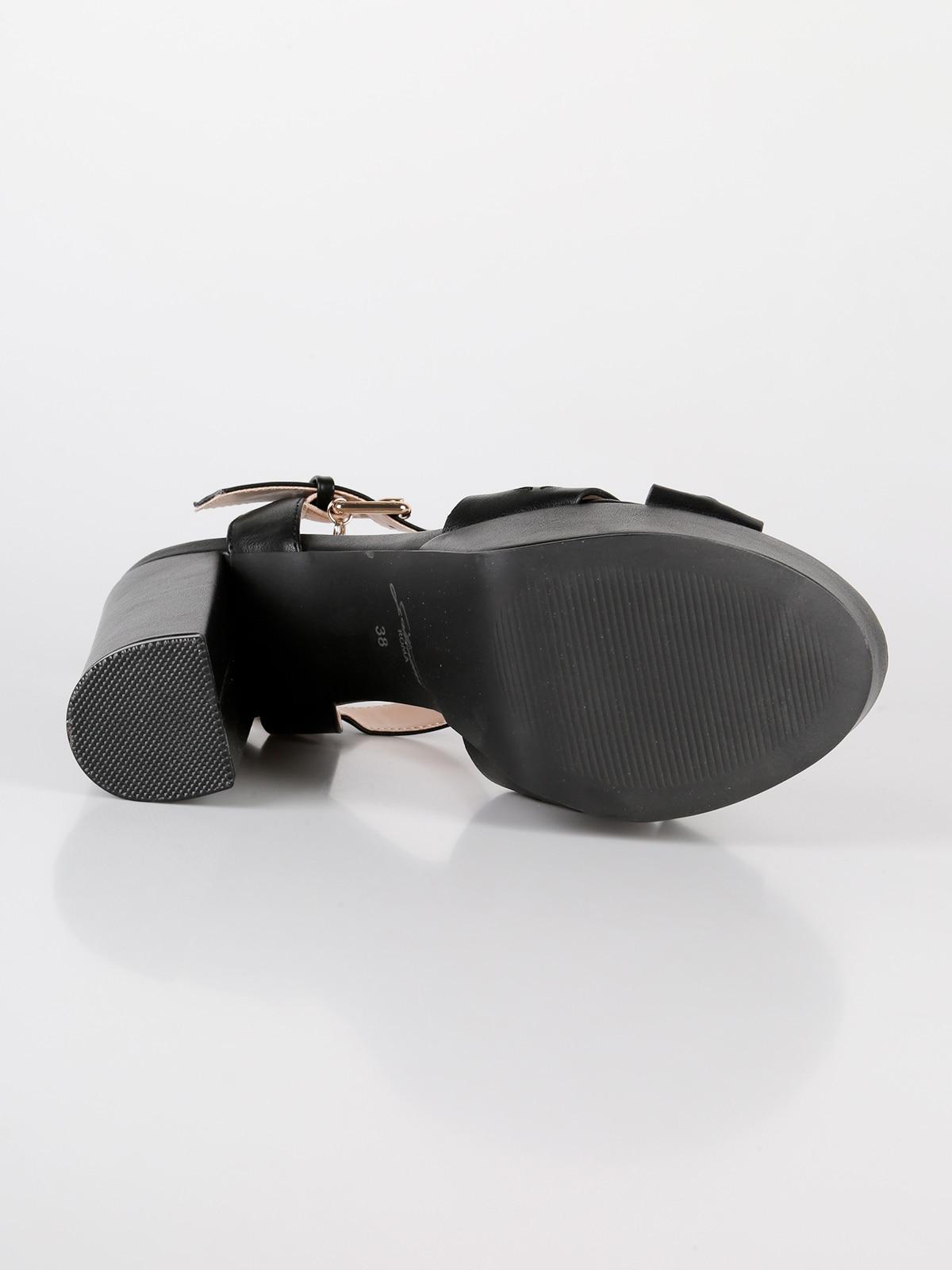 Гаттинони сандалии на блочном каблуке и платформе ламинированное серебро - 6