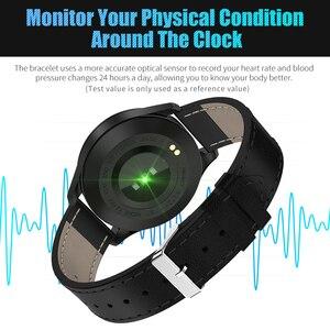 Image 3 - Смарт часы RUNDOING Q9, водонепроницаемые, напоминающие о звонках, умные часы для мужчин, монитор сердечного ритма, модный фитнес трекер
