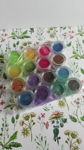 All Natural Vegan 16pcs Mica Pigment Powder ~ Eye Shadow Set