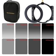 Lopen Manier 150*100mm vierkante ND filter kit set Neutrale Dichtheid ND2 ND4 ND8 ND16 filter houder & 67/72/77/82/86mm adapter ring