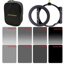 Kit de filtres de densité neutre ND2 ND4 ND8 ND16, 150x100mm carré et anneau adaptateur de 67/72/77/82/86mm