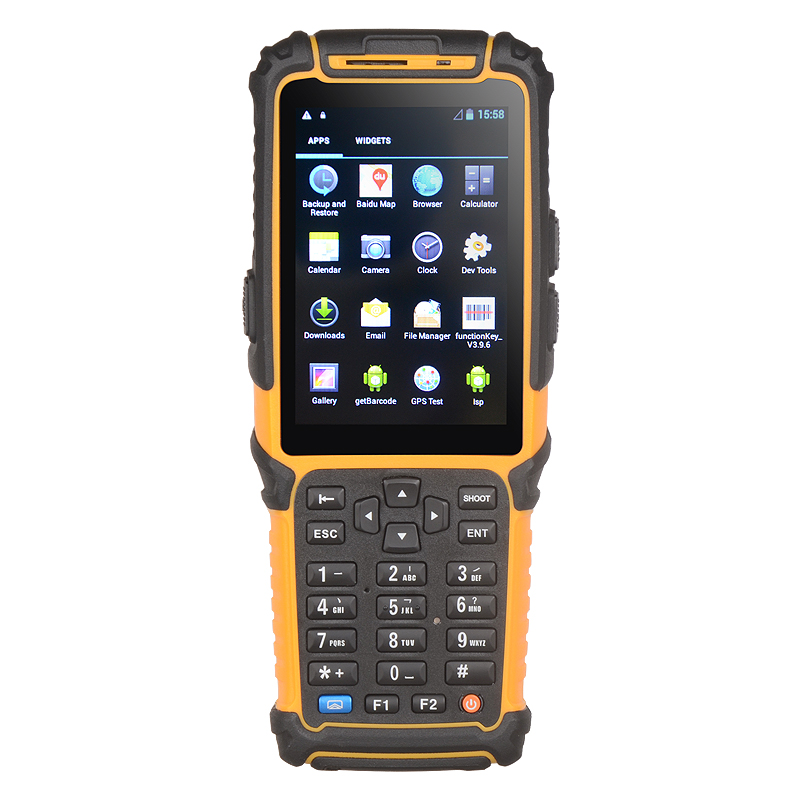 TS-901 High quality android PDA wireless data collector vehicle/warehouse/courier mobile terminal 1d barcode scanner with camera(China)