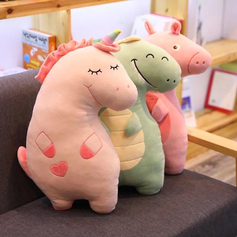 Dinosaurs Doll Toys Unicorns Stuffed Children`s Gifts Plush toys Office&Home Pillows Novel Design Great Elasticity