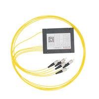1 4 Optical Fiber Splitter FC 1 4 FTTH Fiber Splitter Cable Branching Device Single Mode