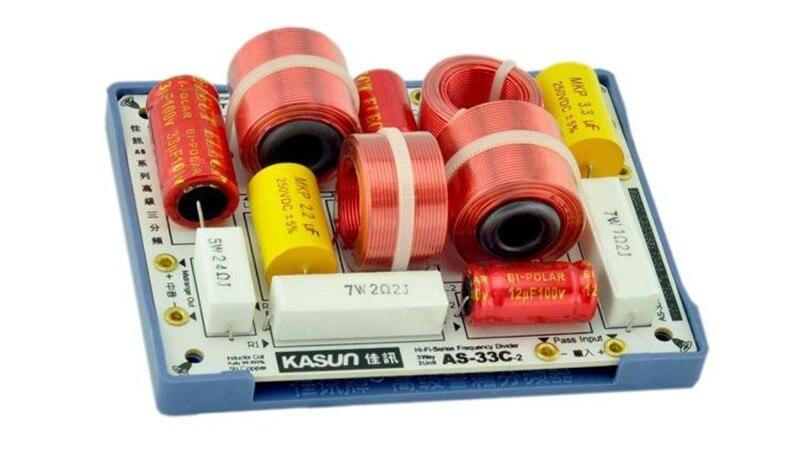 3Way Diviseur de Fréquence Crossover AS-33C-2 3Way 3 Unité HiFi Haut-Parleur Diviseurs De Fréquence Crossover Filtres fait par kasun
