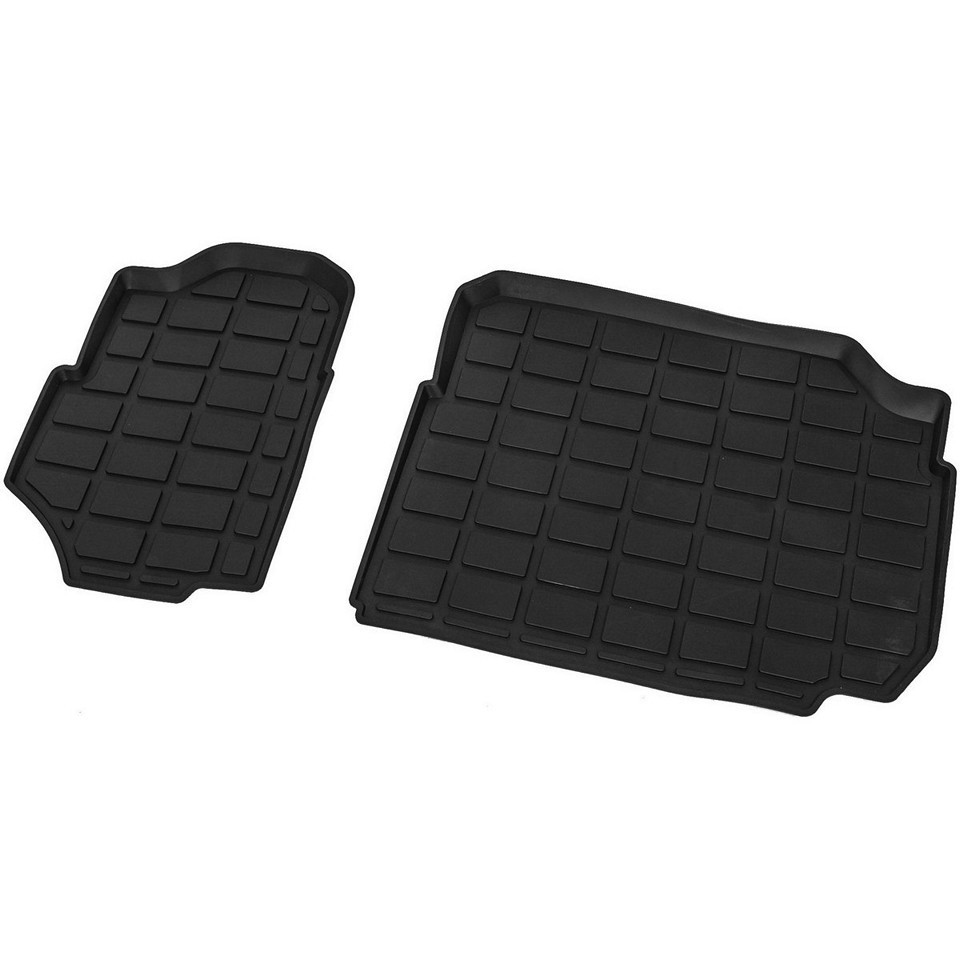For Skoda Kodiaq 2017-2019 3-row of seats rubber floor mats 2 pcs/set Rival 65105002 for toyota fortuner 2017 2019 3 row of seats floor mat 1 pcs set rival 15707002
