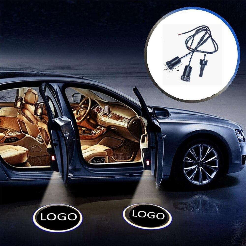 JingXiangFeng 2 Pcs For Gaz For Bentley Car Door Welcome