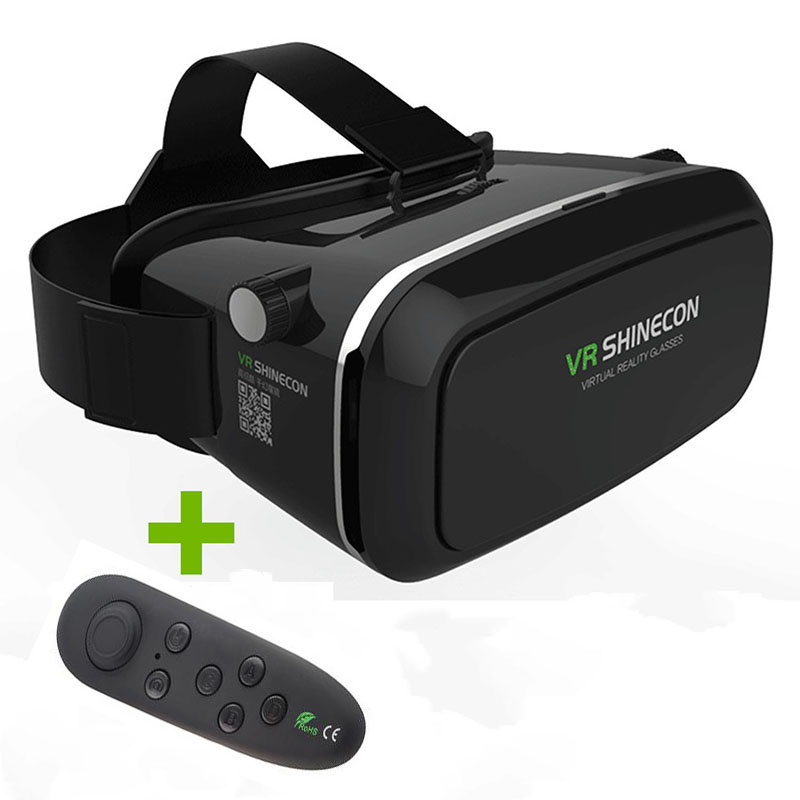 VR Glasses 3D Glasses VR Headset Virtual Joystick for Phone Virtual Reality Glasses for Iphone Google Cardboard Galaxy S9 ...
