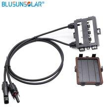 Водонепроницаемый IP65 4 Way PV солнечная распределительная коробка для панели солнечных батарей с кабелем 4.0mm2 и 4 диодами XH0196