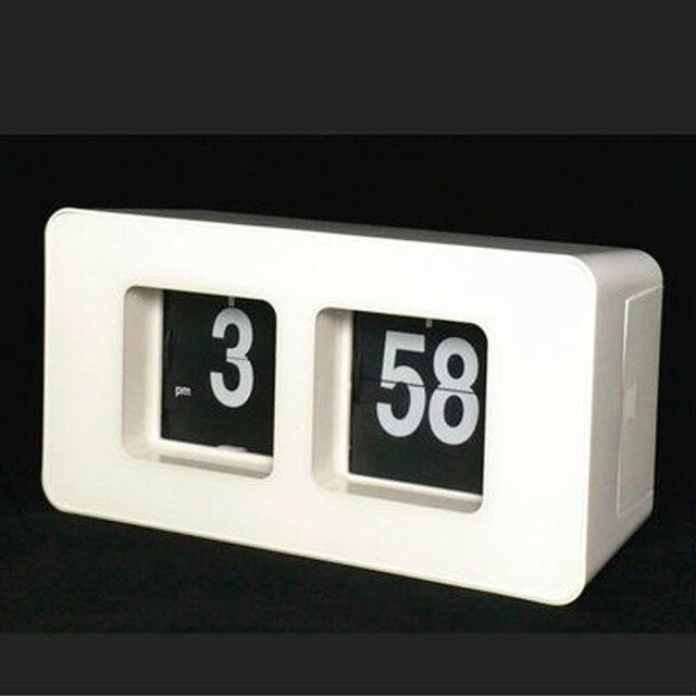 b90524b9327 Relógio De Mesa Retro Auto Flip Clock 12 Horas AM PM Relógio Formato de  Exibição