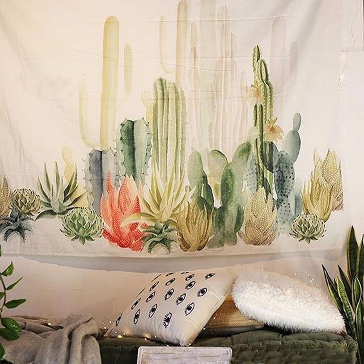 Wall Hanging Cactus Tapestry Bohemian 150 150cm Cover