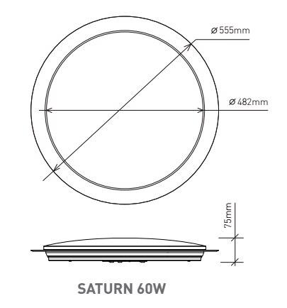 ESTARES SATURN NOUVELLE Moderne led qui change de couleur Au Plafond Lumières Intelligent télécommande 60 w - 6