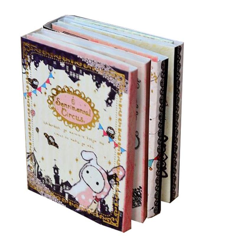 Kawaii Sentimental Circus Rabbit Notepad / Memo / 6 Fold Sticky Note Pad / Notebook Retail