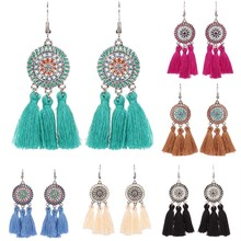 6 Colors  Long Colorful  Tassel  Earrings Fashion Jewelry  Bohemian Earrings  For Women Jewelry