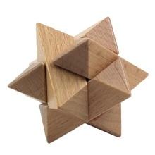 Új fából készült Magic Cubes Kongming Luban Lock agy teaser Toy 8 Angle Lock Cube kínai hagyományos intelligencia játék