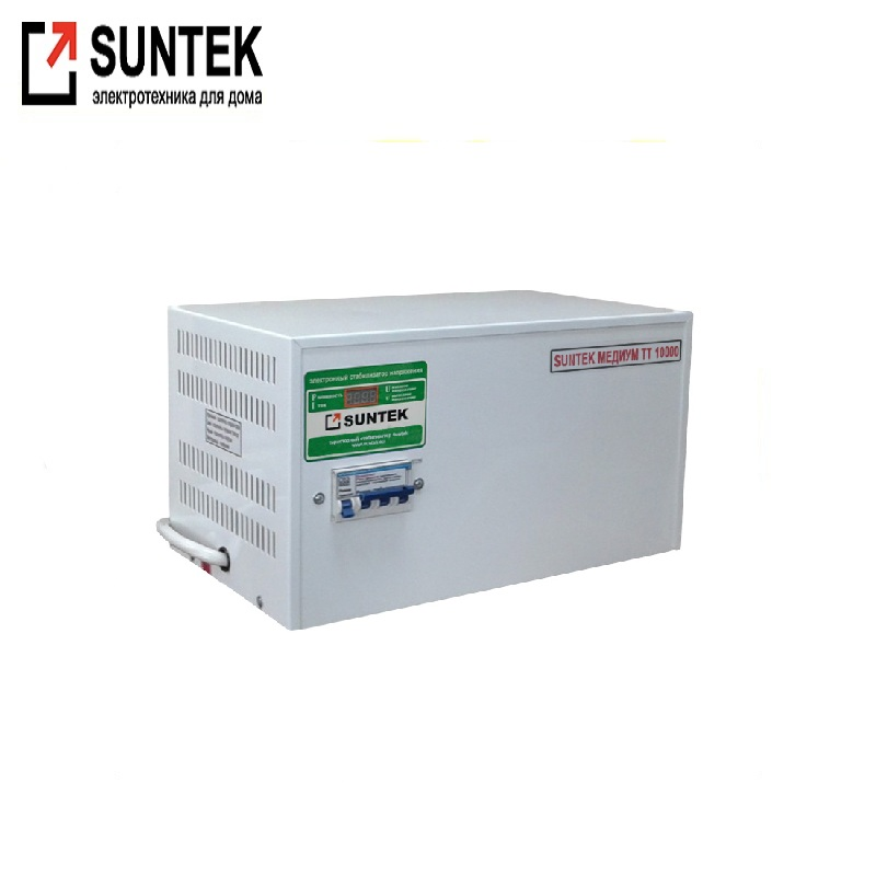 Voltage stabilizer thyristor SUNTEK Medium TT 10000VA AC Stabilizer Power stab Stabilizer with thyristor amplifier Constant volt цена и фото