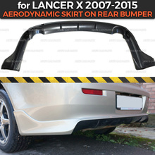 Rear-Bumper Mitsubishi Decoration Body-Kit Car-Styling ABS for Aerodynamic-Pad Skirt