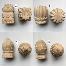 Premintehdw Solid Wood Carved Post Bed Handrail Decorative End Head