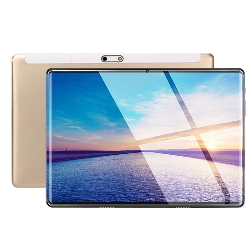 Gold S119 2.5D IPS Tablet PC 3G Android 9.0 Octa Core Google Play The Tablets 6GB RAM 64GB ROM WiFi GPS 10' Tablet Steel Screen