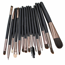 Popfeel 15 Pcs Makeup Brushes Set Powder Foundation Mascara Lip Brush Cosmetic Tool