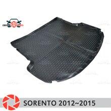 Багажник коврик для Kia Sorento 2012 ~ 2015 багажника коврики Нескользящие полиуретановые грязи защиты багажник Тюнинг автомобилей