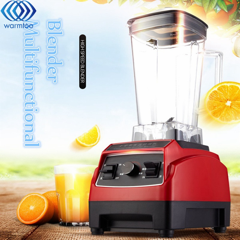 BPA 3 Speed Heavy Duty Commercial Grade Juicer Fruit Blender Mixer 2200W 2L Professional Smoothies Food Mixer Fruit Processor xeoleo 2l heavy duty commercial blender food greater material 2000w food processing machine with pc jar juicer mixer bpa free