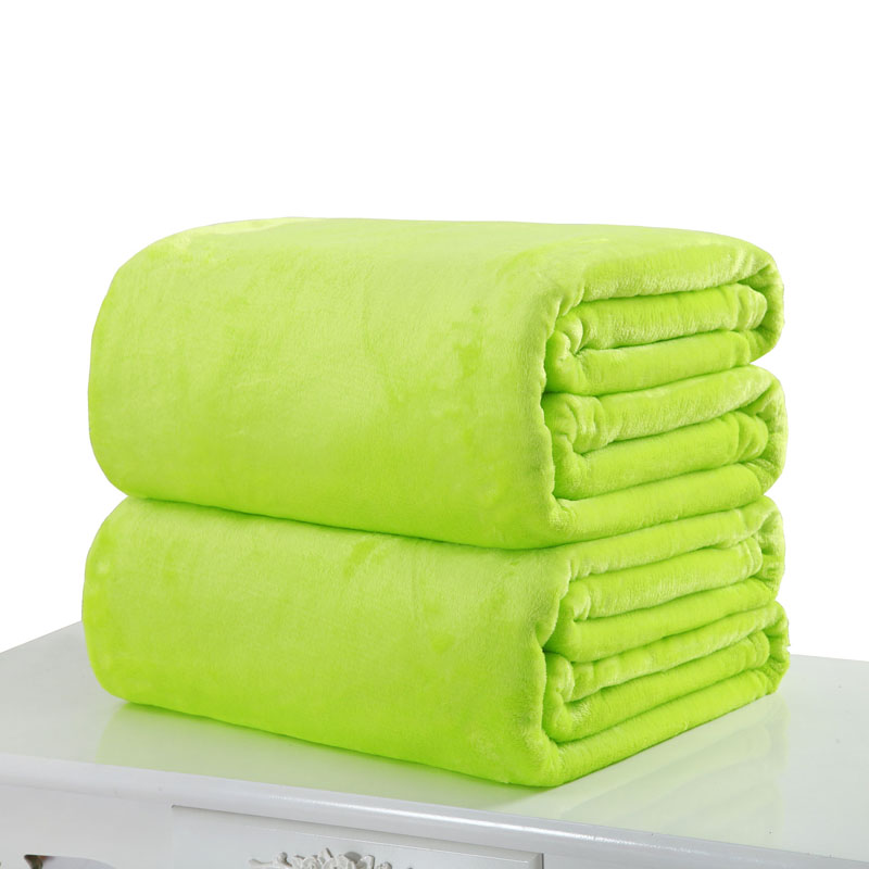 Ymqy 2018 Super Warm Soft Home Textile Blanket Solid Color