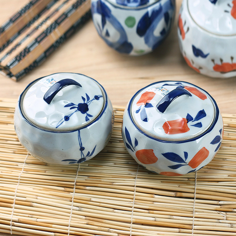 Japanese style mini slow cooker ceramic water egg cup pot with lid bird nest soup bowl endulge hand painting tableware 300ml