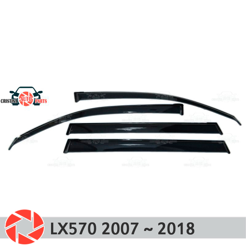 Window deflector for Lexus LX 570 2007~2018 rain deflector dirt protection car styling decoration accessories molding original view window flip pu leather case cover for uhappy up920