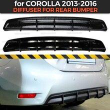 Difüzör için Toyota Corolla E160 2013 2016 arka tampon ABS plastik gövde kiti aerodinamik ped dekorasyon araba şekillendirici