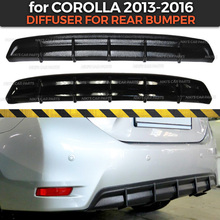Diffuser case for Toyota Corolla E160 2013 2016 of rear bumper ABS plastic body kit aerodynamic pad decoration car styling
