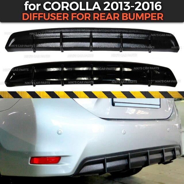 Funda difusora para Toyota Corolla E160 2013 2016 de parachoques trasero, kit de ABS, plástico de carrocería, almohadilla aerodinámica, decoración de coche