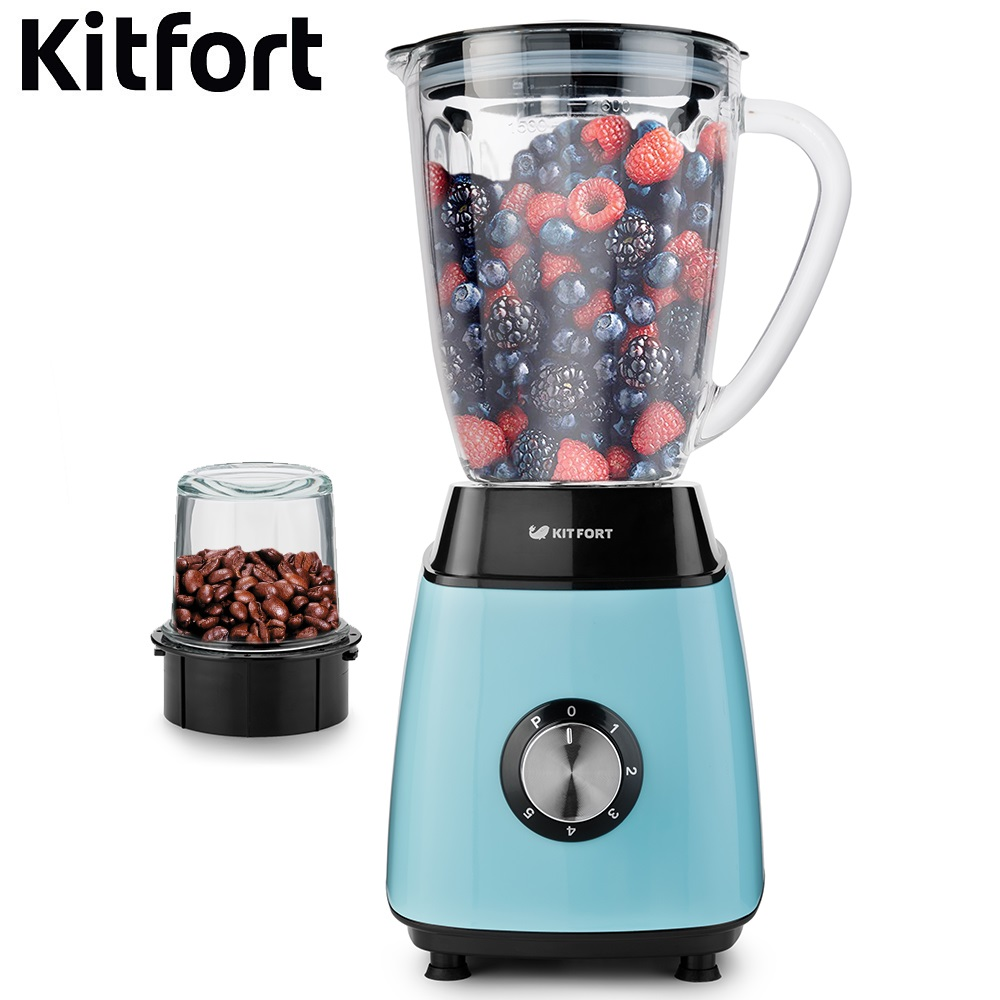 Blender smoothies Kitfort KT-1341 kitchen Juicer Portable blender kitchen Cocktail shaker Chopper Electric Mini blender portable manual juicer fruit tool