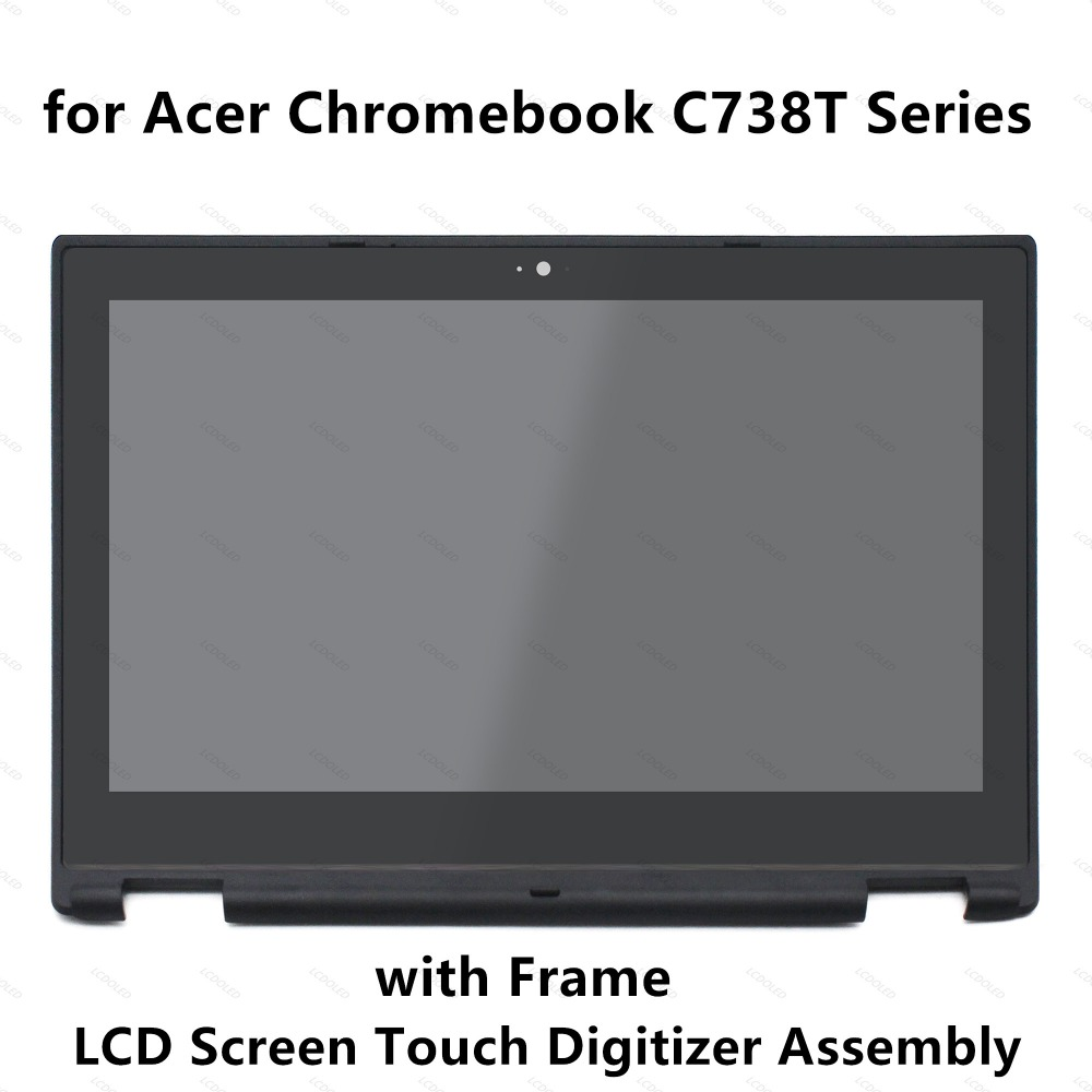 11.6'' LCD Screen Display Touch Glass Digitizer Assembly + Black Frame for Acer Chromebook R 11 C738T Series N15Q8 6M.G55N7.002 roocase netbook carrying bag for acer cromia ac761 11 6 inch hd chromebook wi fi 3g deluxe series